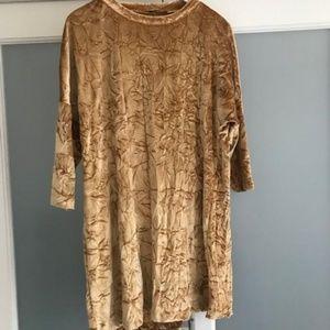 Zara Velvet Gold Dress